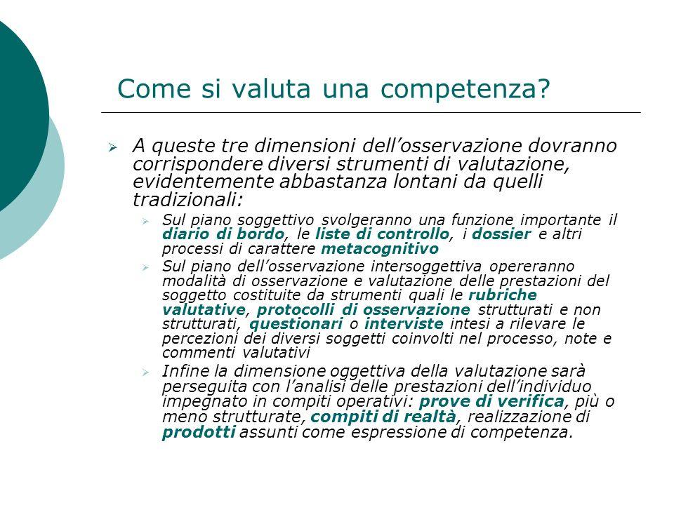 Come si valuta una competenza