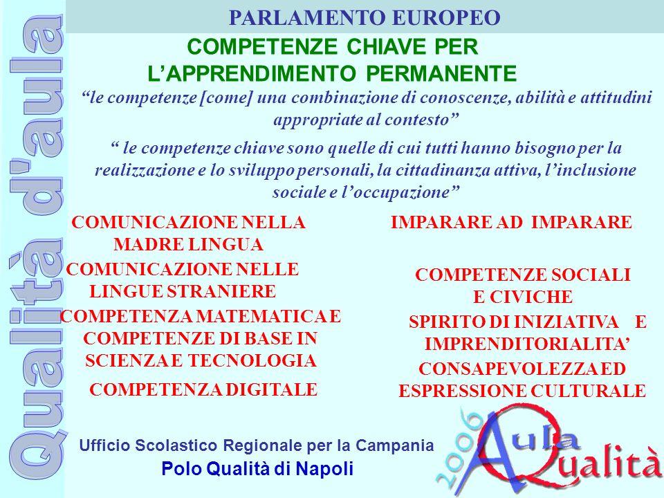COMPETENZE CHIAVE PER L'APPRENDIMENTO PERMANENTE