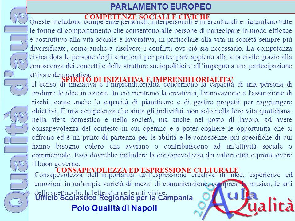 PARLAMENTO EUROPEO COMPETENZE SOCIALI E CIVICHE