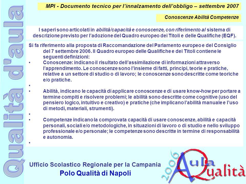 MPI - Documento tecnico per l'innalzamento dell'obbligo – settembre 2007
