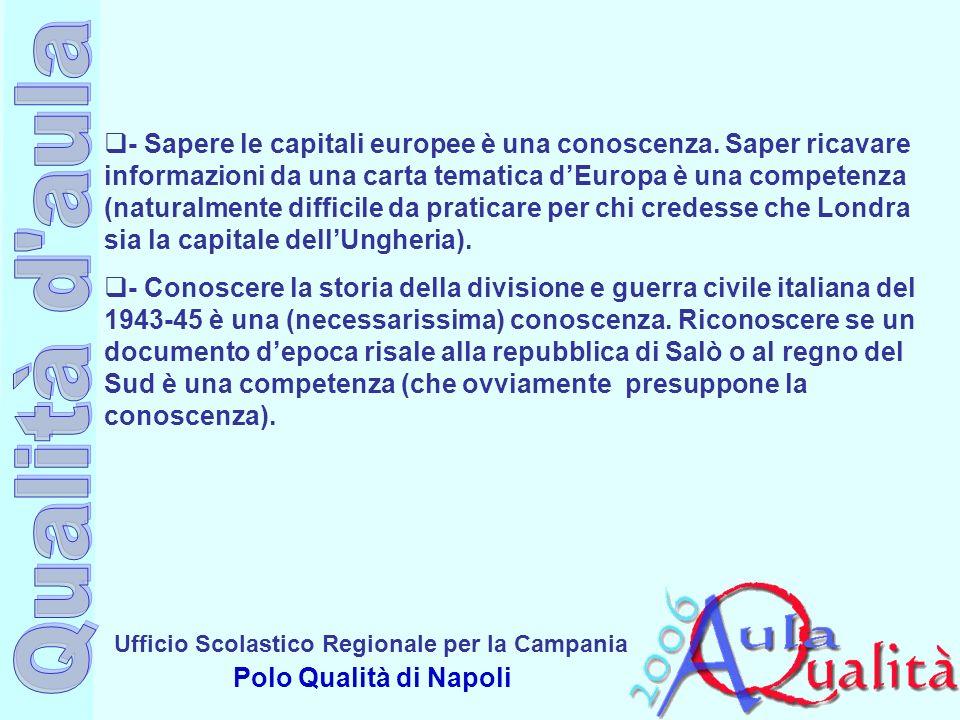 - Sapere le capitali europee è una conoscenza