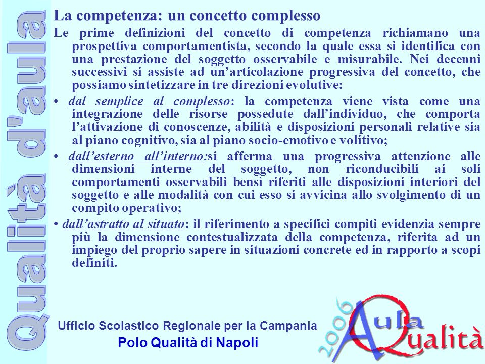 La competenza: un concetto complesso