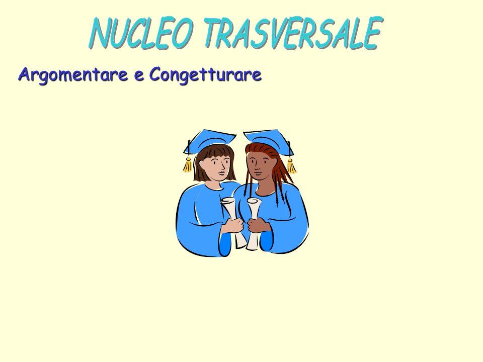 NUCLEO TRASVERSALE Argomentare e Congetturare