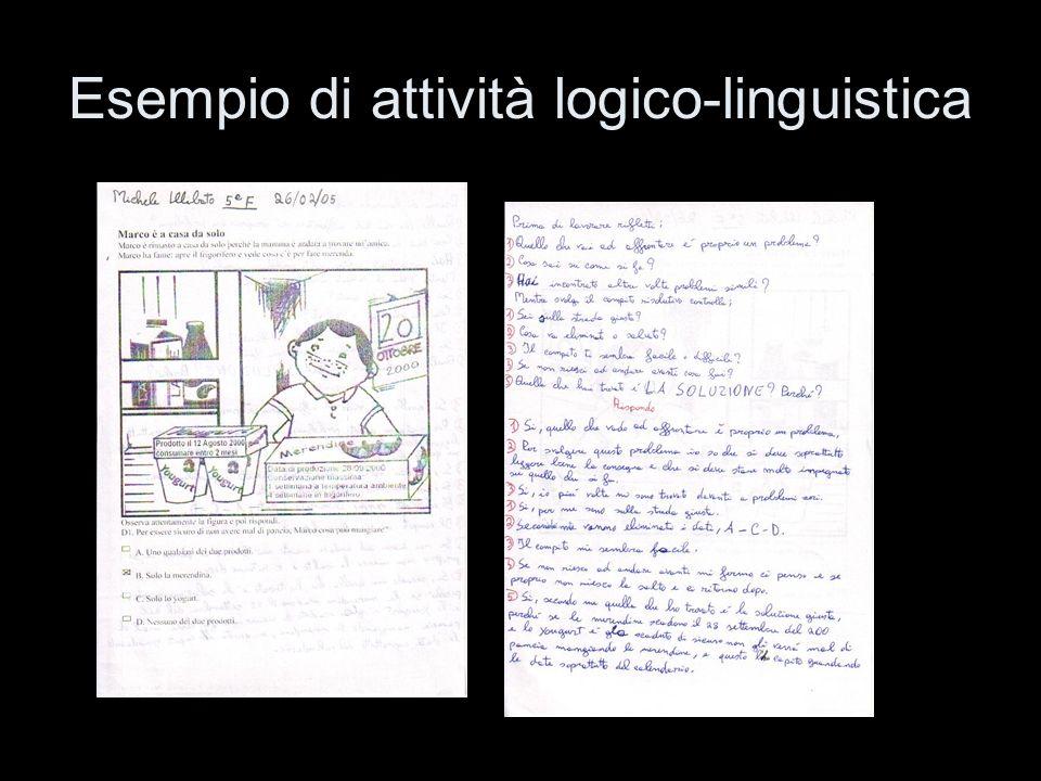 Esempio di attività logico-linguistica