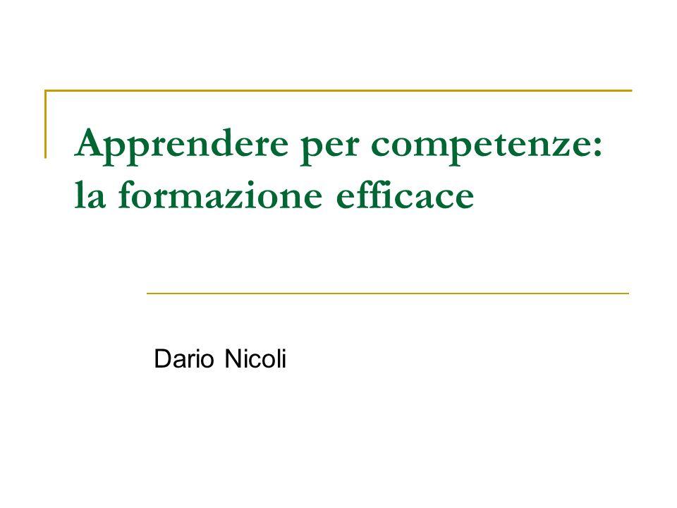 Apprendere per competenze: la formazione efficace