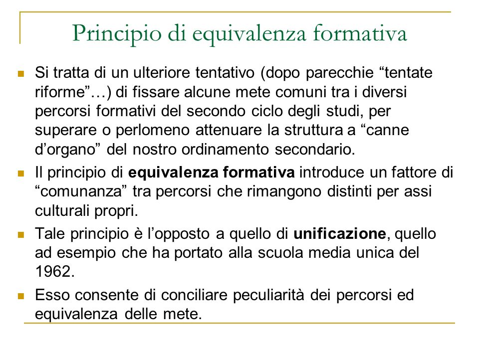 Principio di equivalenza formativa