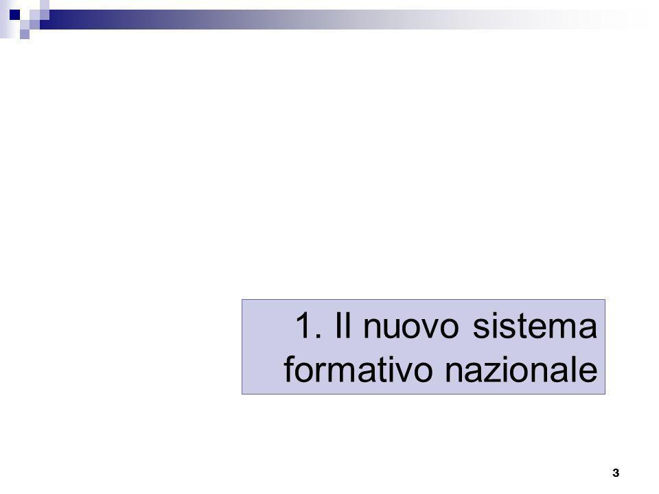 1. Il nuovo sistema formativo nazionale
