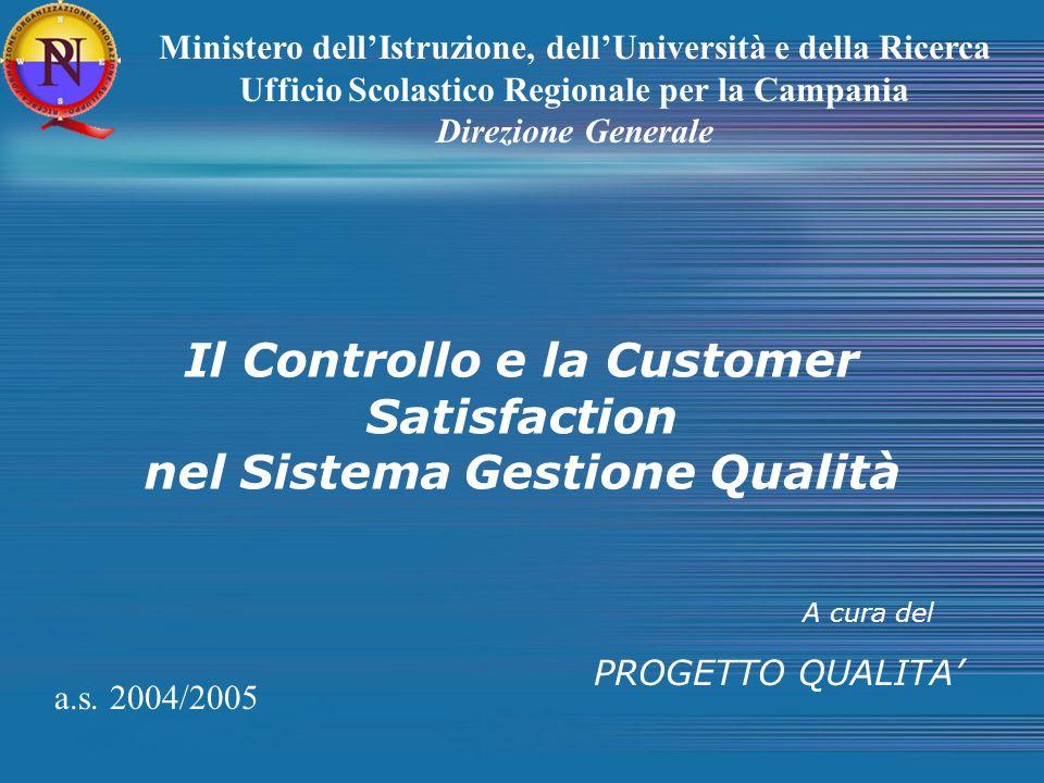Il Controllo e la Customer Satisfaction nel Sistema Gestione Qualità