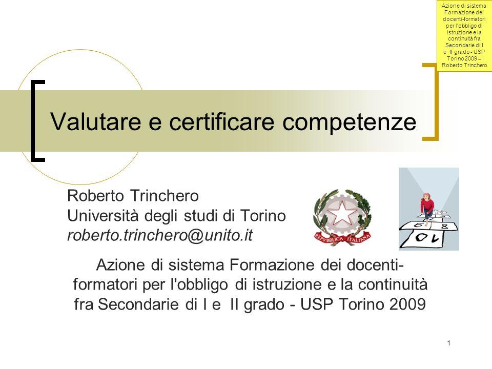 Valutare e certificare competenze