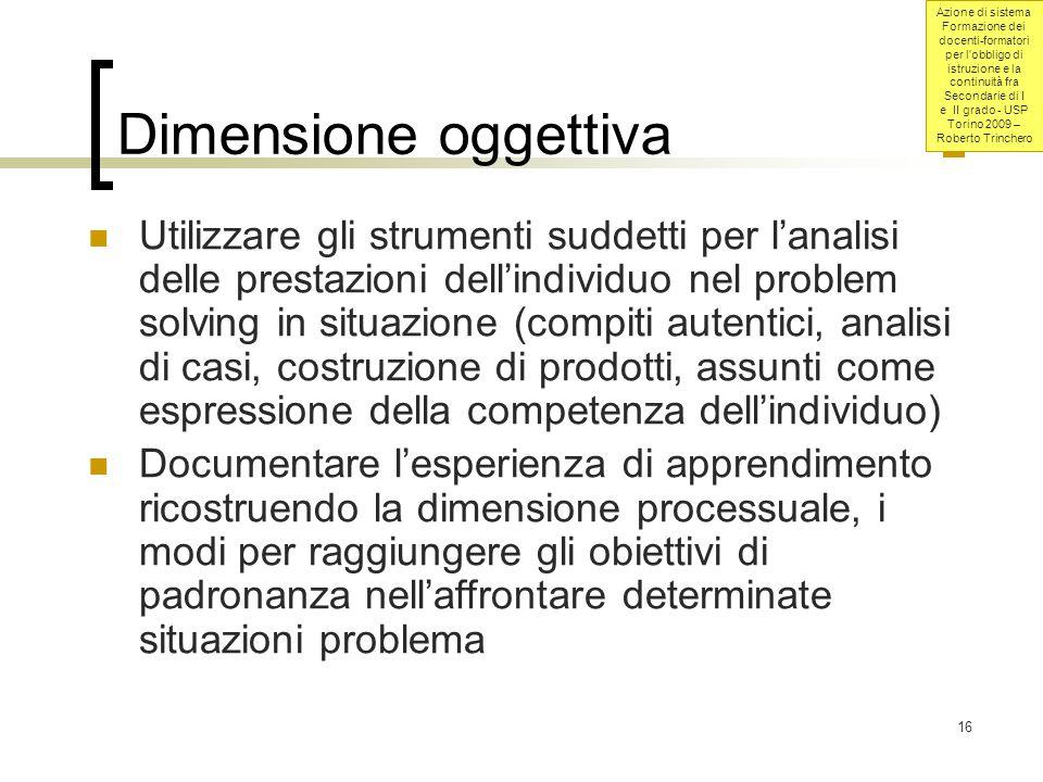 Dimensione oggettiva