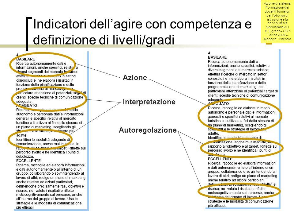 Indicatori dell'agire con competenza e definizione di livelli/gradi