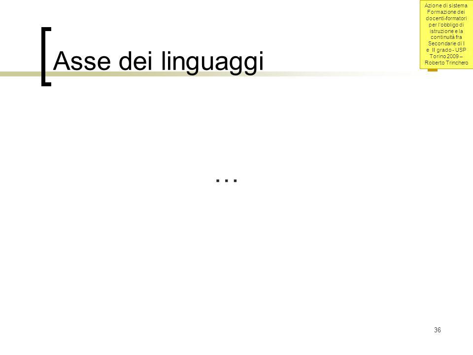 Asse dei linguaggi …