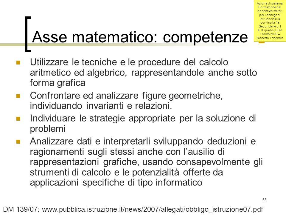 Asse matematico: competenze