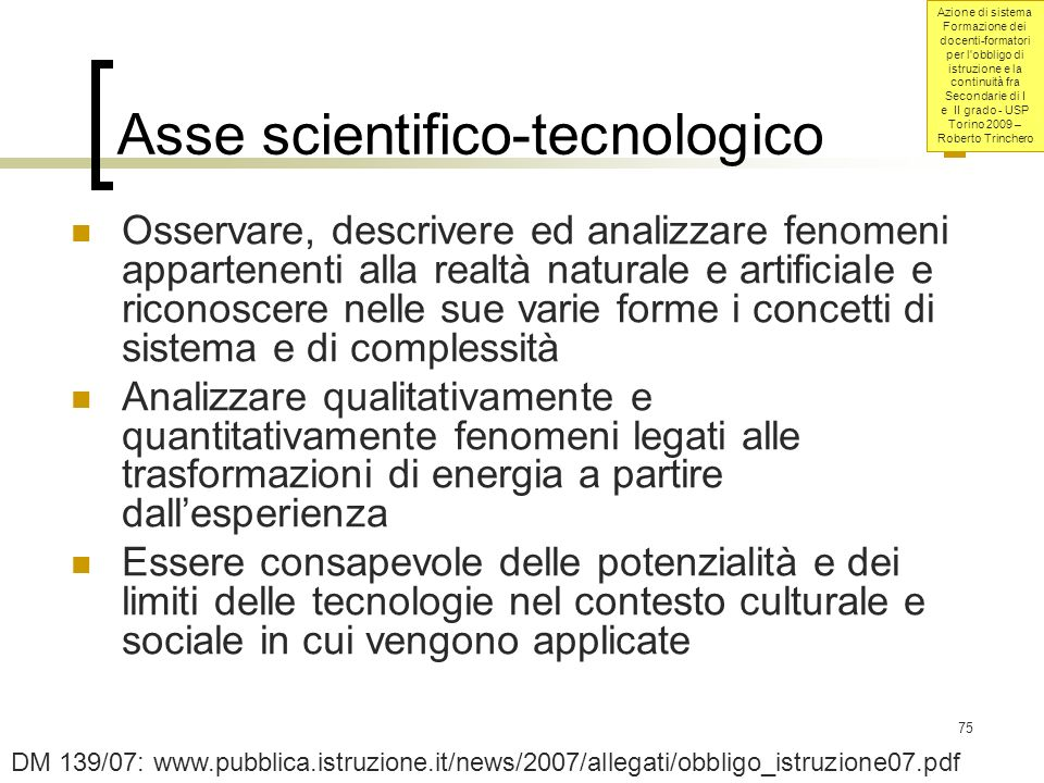 Asse scientifico-tecnologico