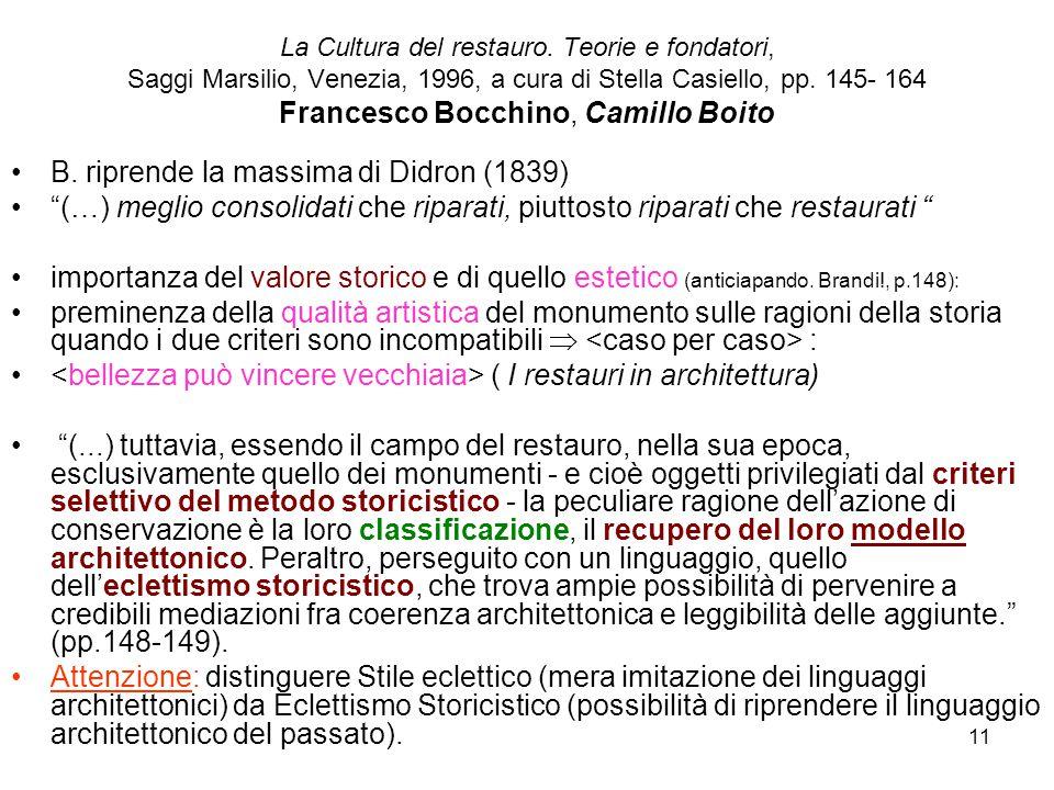 B. riprende la massima di Didron (1839)
