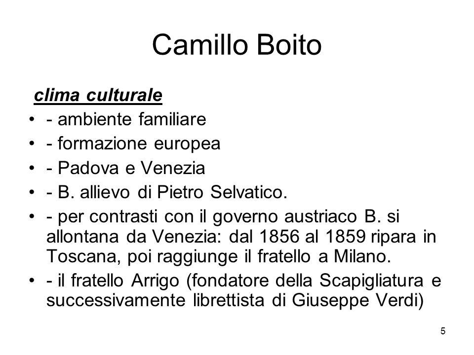 Camillo Boito clima culturale - ambiente familiare