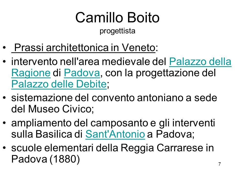 Camillo Boito progettista