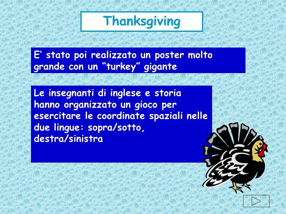 Thanksgiving E' stato poi realizzato un poster molto grande con un turkey gigante.