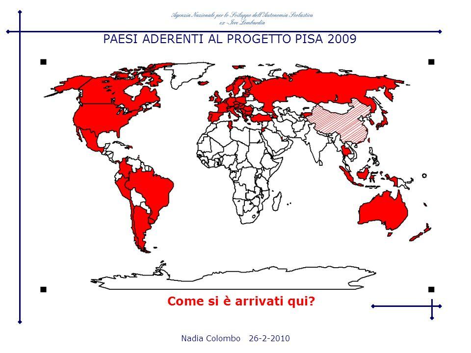 PAESI ADERENTI AL PROGETTO PISA 2009