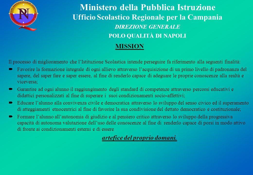 MISSION Il processo di miglioramento che l'Istituzione Scolastica intende perseguire fa riferimento alla seguenti finalità:
