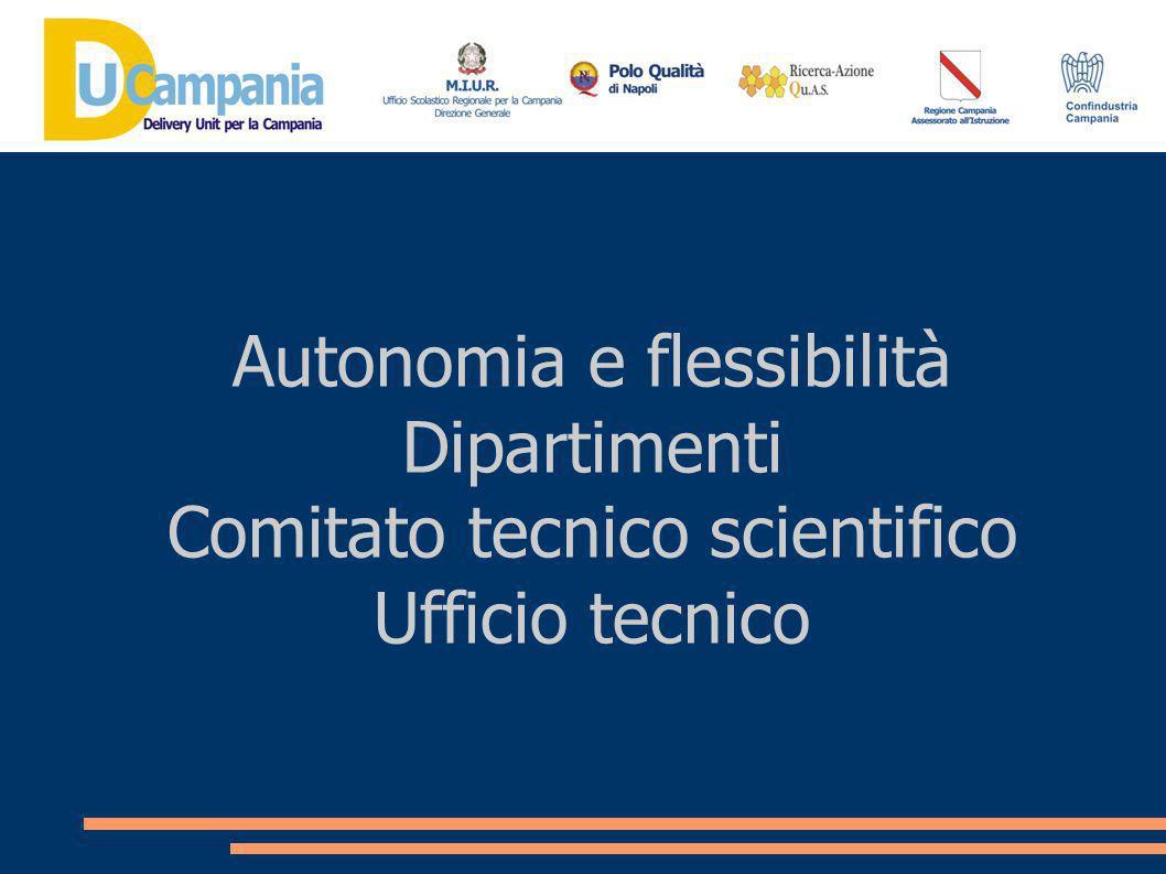 Autonomia e flessibilità Dipartimenti