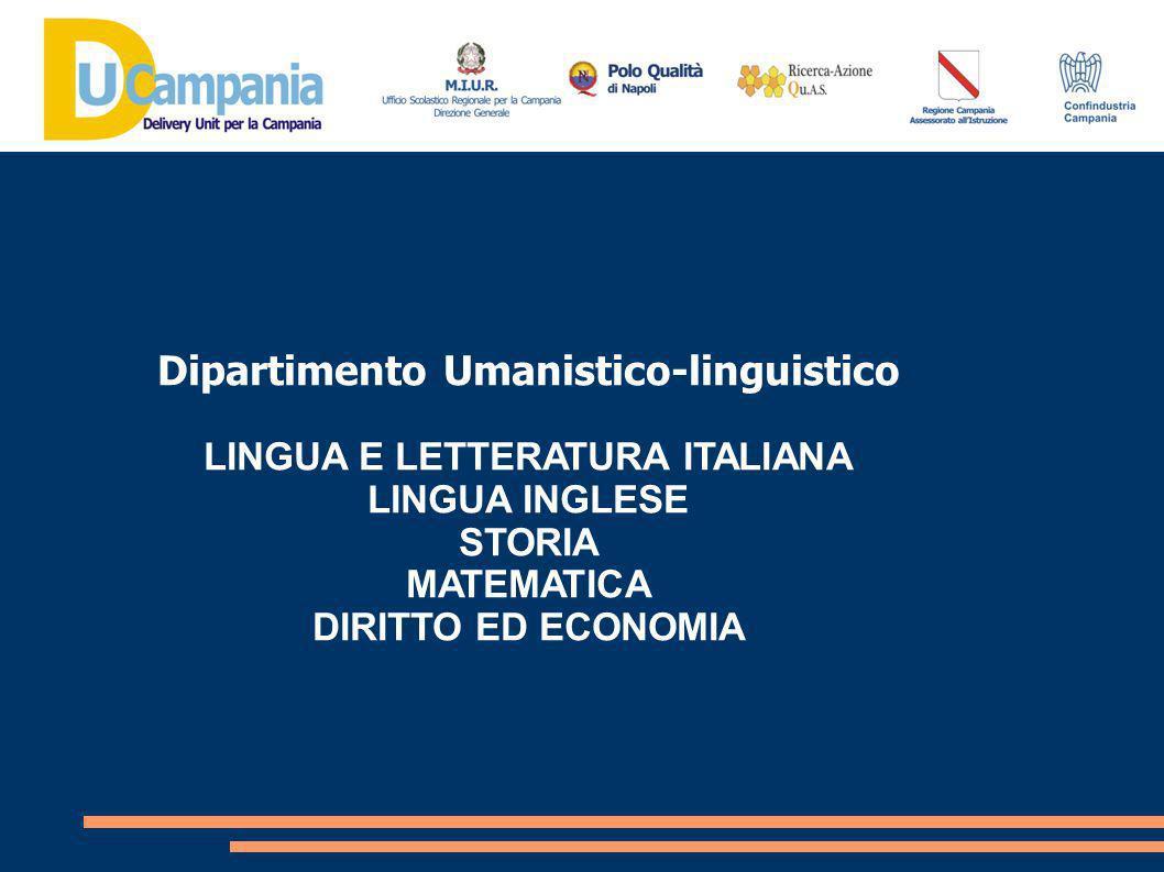 Dipartimento Umanistico-linguistico LINGUA E LETTERATURA ITALIANA