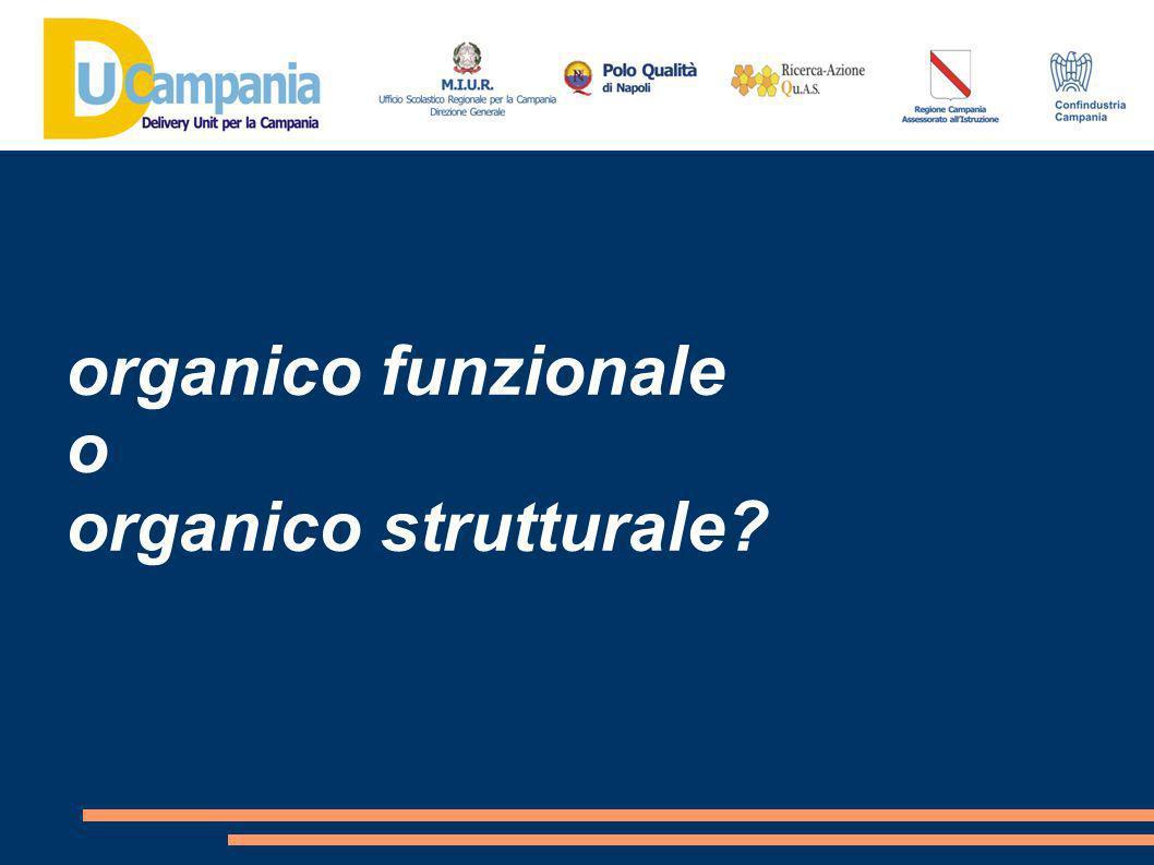organico funzionale o organico strutturale