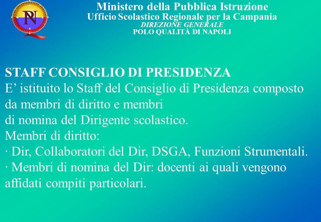 STAFF CONSIGLIO DI PRESIDENZA