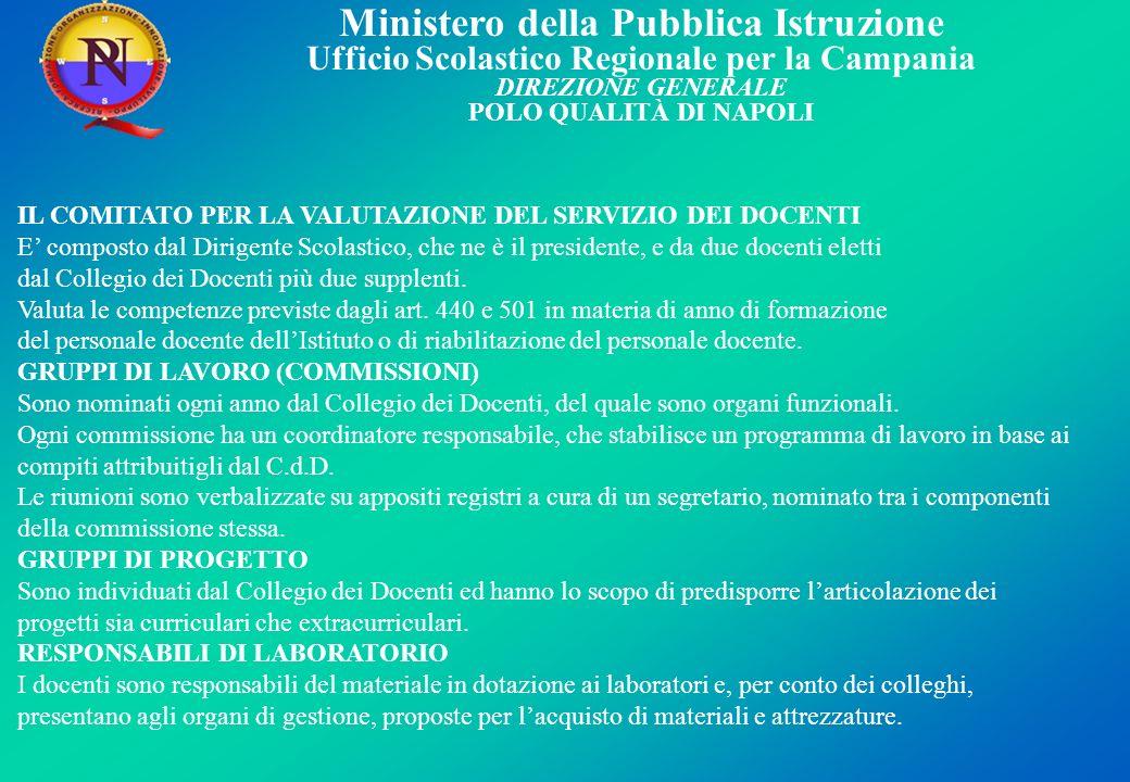 IL COMITATO PER LA VALUTAZIONE DEL SERVIZIO DEI DOCENTI