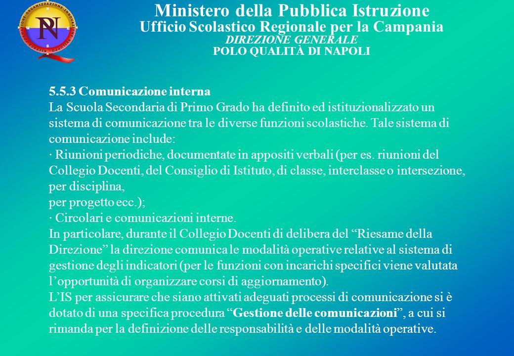 5.5.3 Comunicazione interna