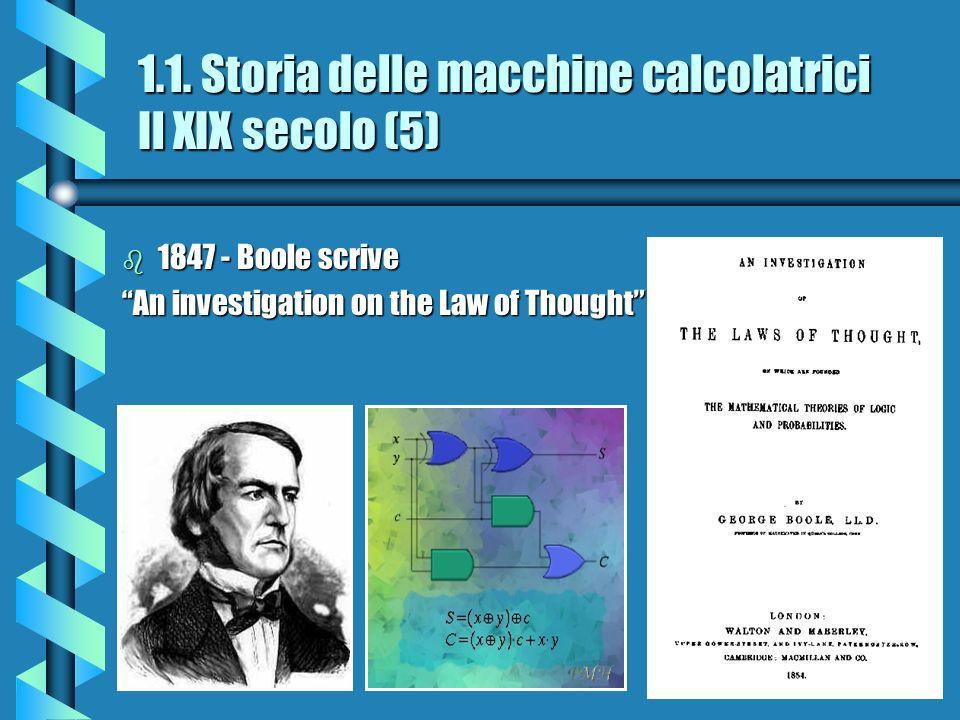 1.1. Storia delle macchine calcolatrici Il XIX secolo (5)