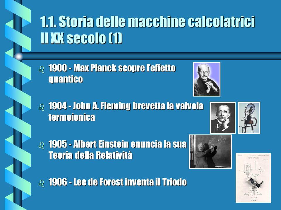 1.1. Storia delle macchine calcolatrici Il XX secolo (1)