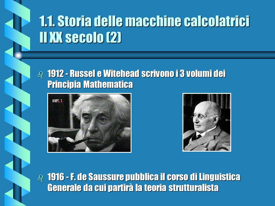 1.1. Storia delle macchine calcolatrici Il XX secolo (2)