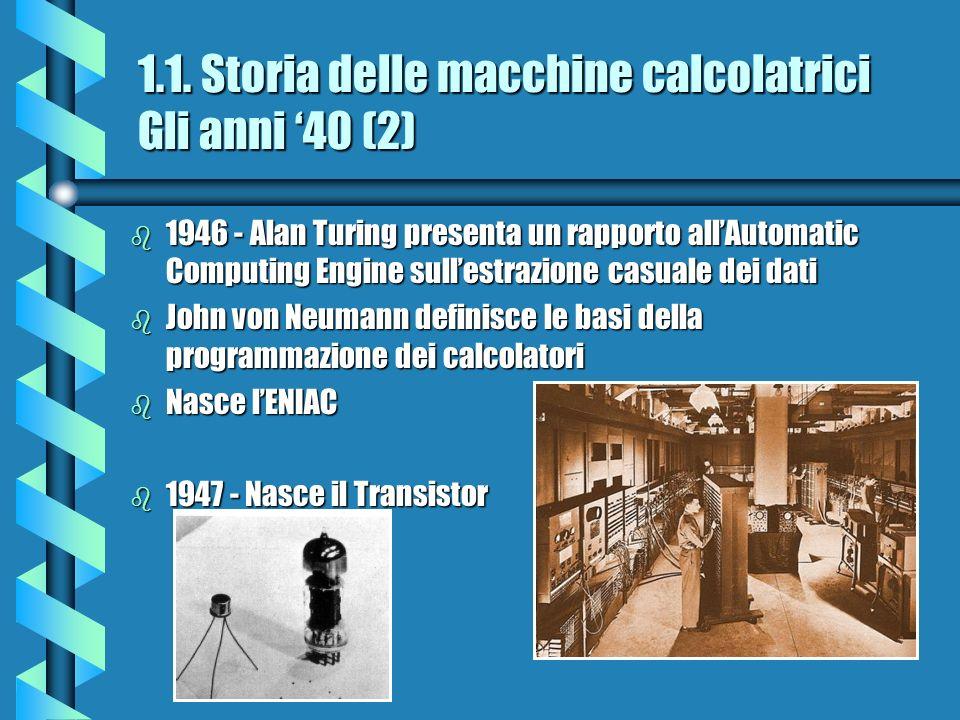 1.1. Storia delle macchine calcolatrici Gli anni '40 (2)