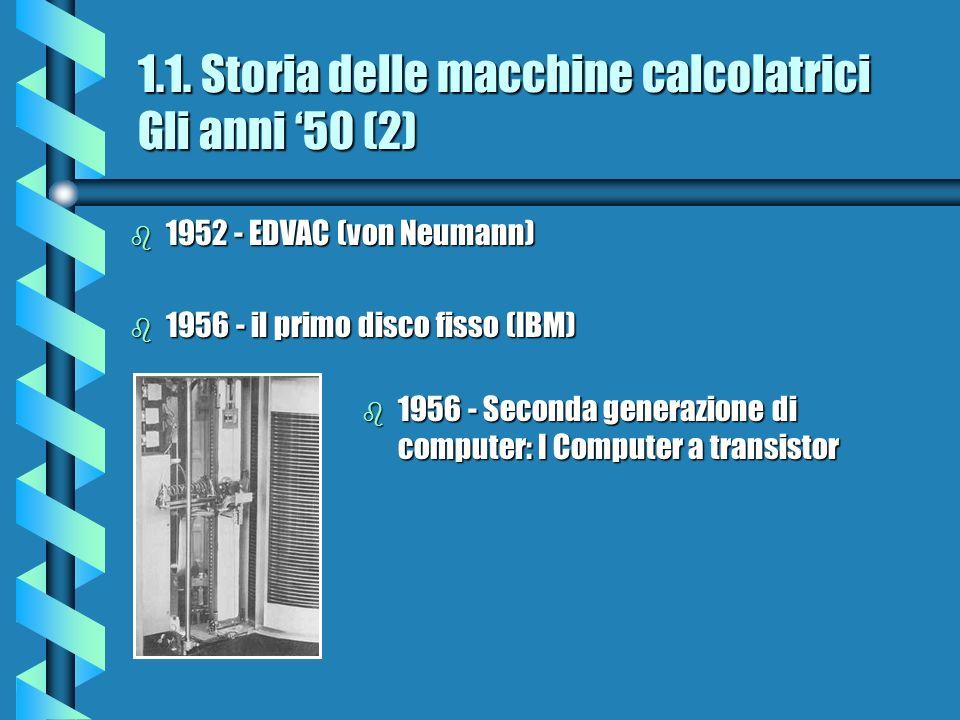 1.1. Storia delle macchine calcolatrici Gli anni '50 (2)