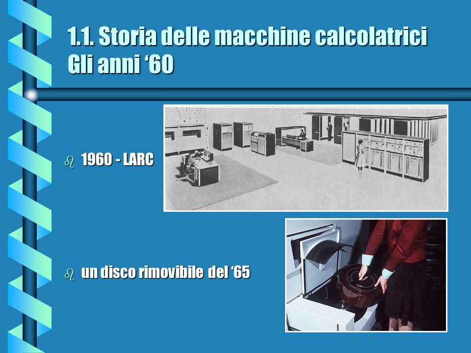 1.1. Storia delle macchine calcolatrici Gli anni '60