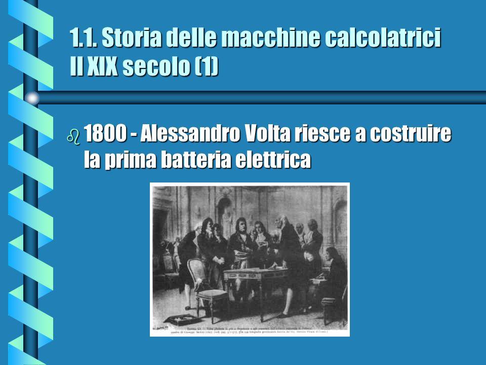 1.1. Storia delle macchine calcolatrici Il XIX secolo (1)