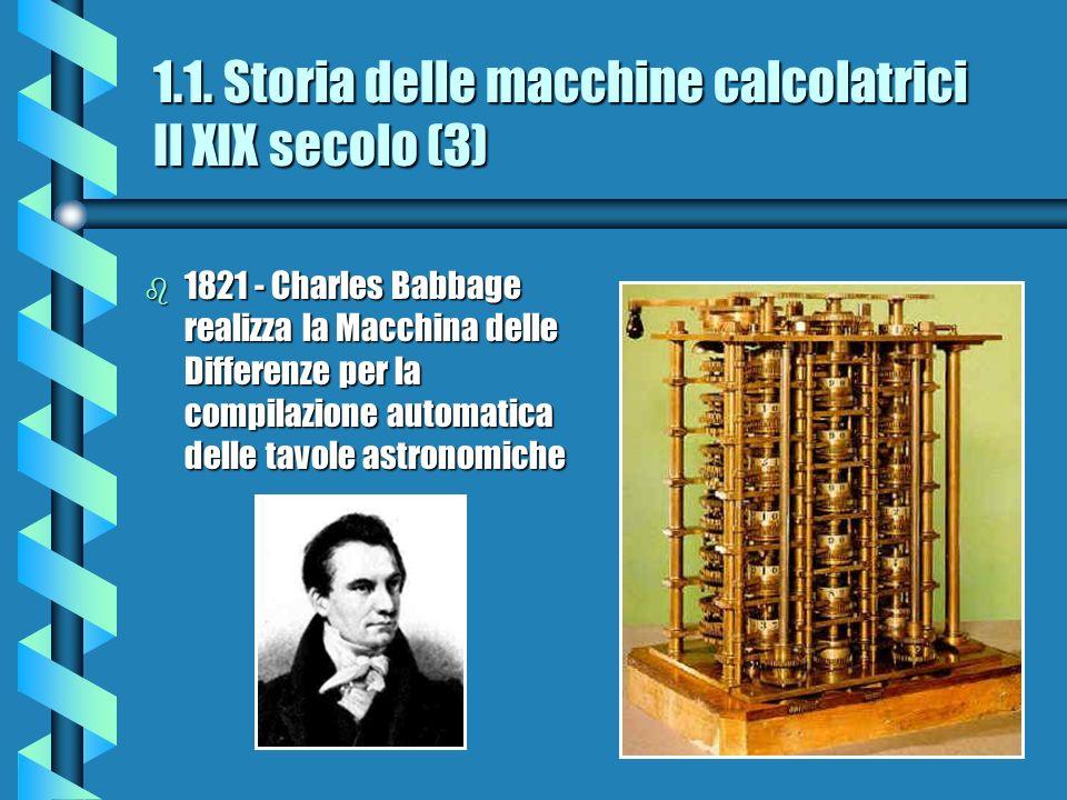 1.1. Storia delle macchine calcolatrici Il XIX secolo (3)
