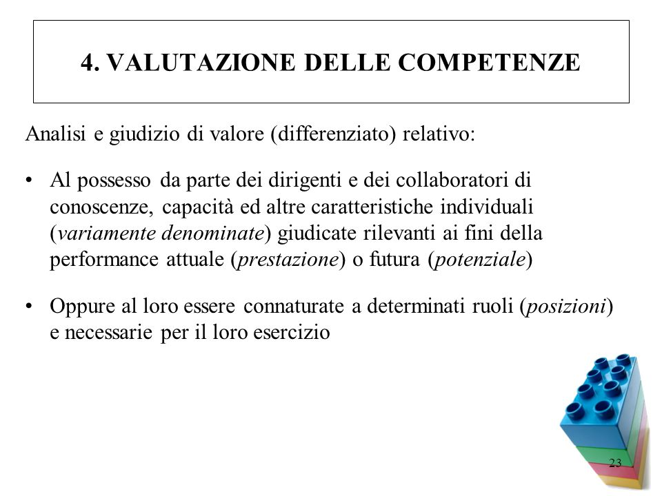 4. VALUTAZIONE DELLE COMPETENZE