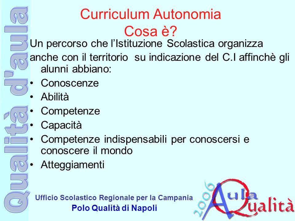Curriculum Autonomia Cosa è