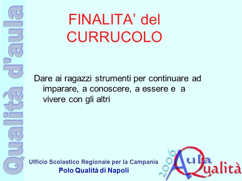 FINALITA' del CURRUCOLO
