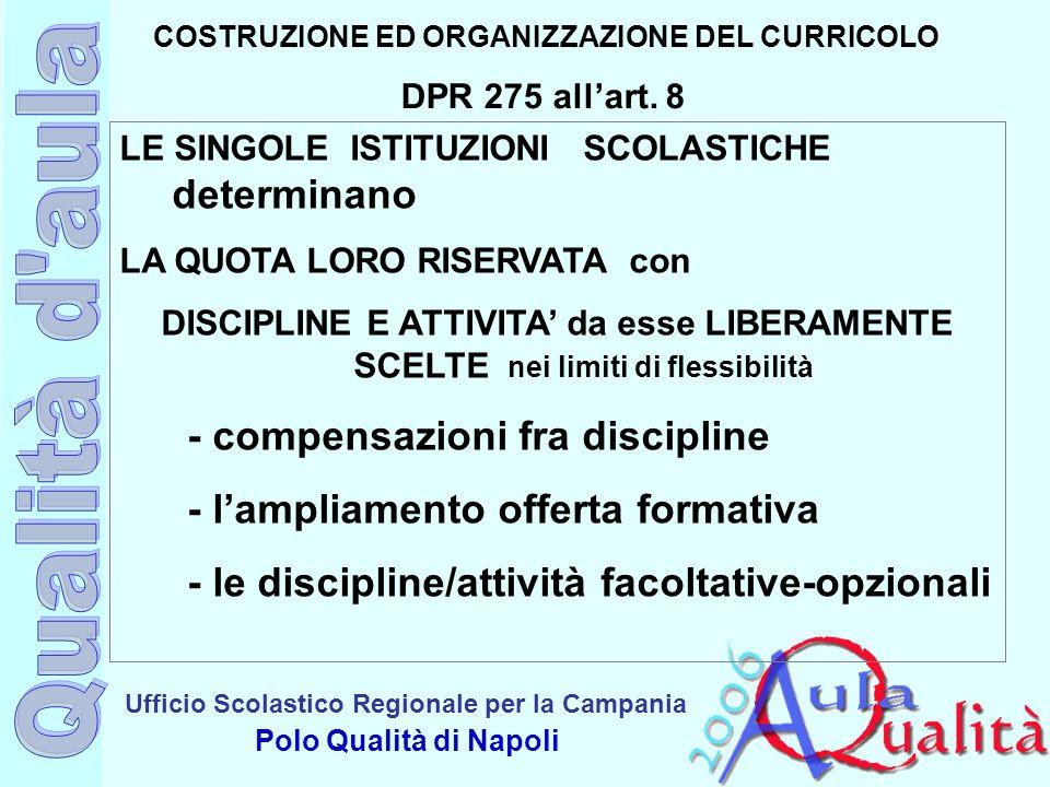 COSTRUZIONE ED ORGANIZZAZIONE DEL CURRICOLO