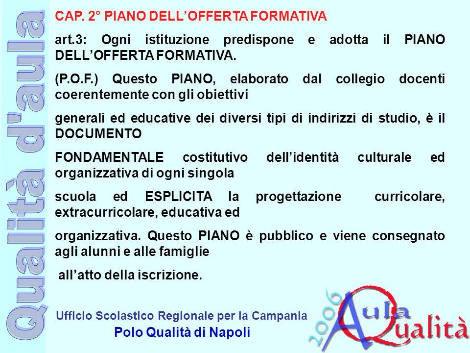 CAP. 2° PIANO DELL'OFFERTA FORMATIVA