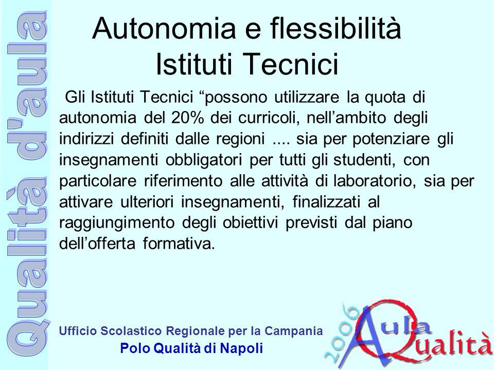 Autonomia e flessibilità Istituti Tecnici