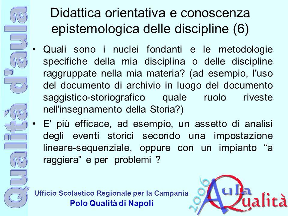 Didattica orientativa e conoscenza epistemologica delle discipline (6)