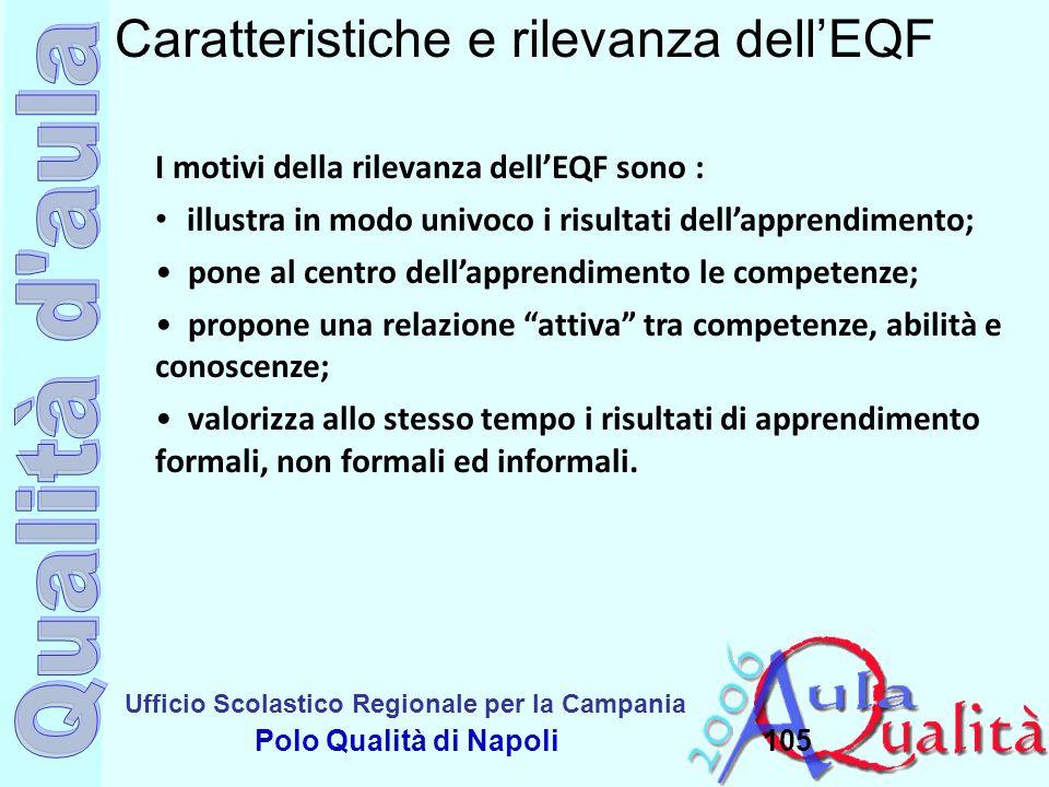 Caratteristiche e rilevanza dell'EQF