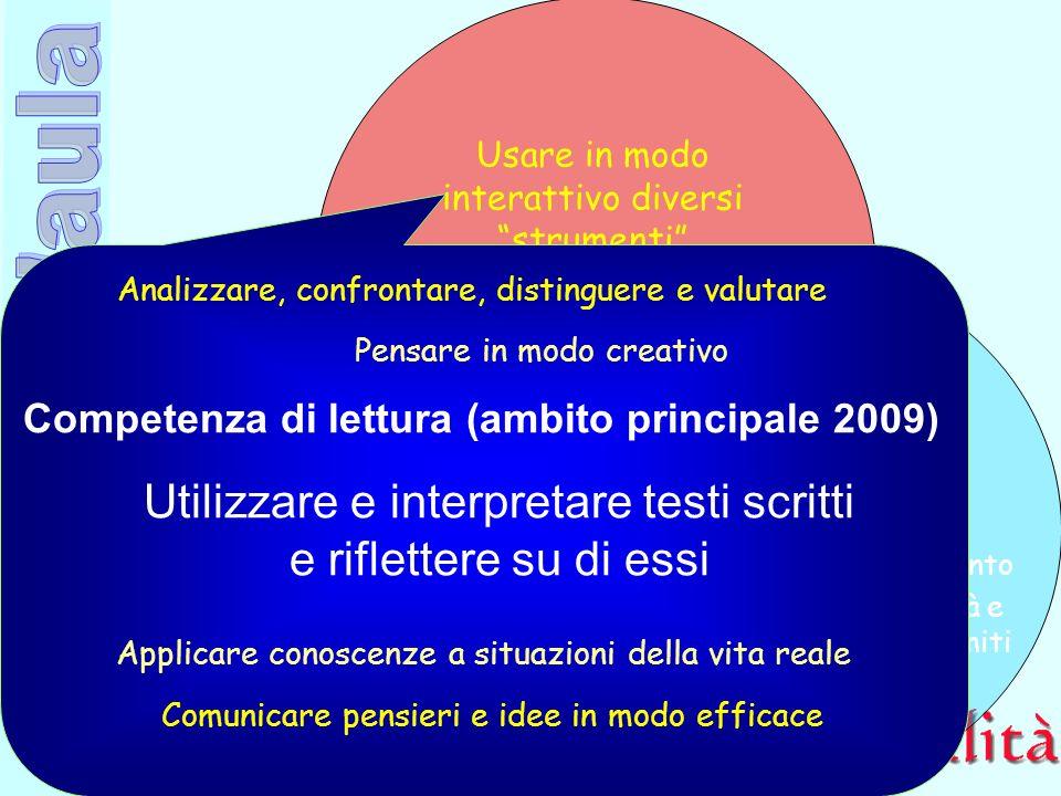 Competenza di lettura (ambito principale 2009)