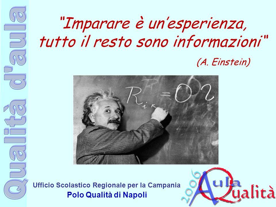 Imparare è un'esperienza, tutto il resto sono informazioni (A