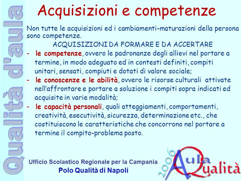 Acquisizioni e competenze
