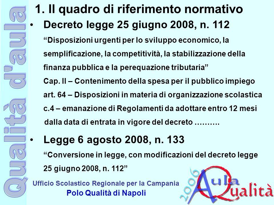 Il quadro di riferimento normativo
